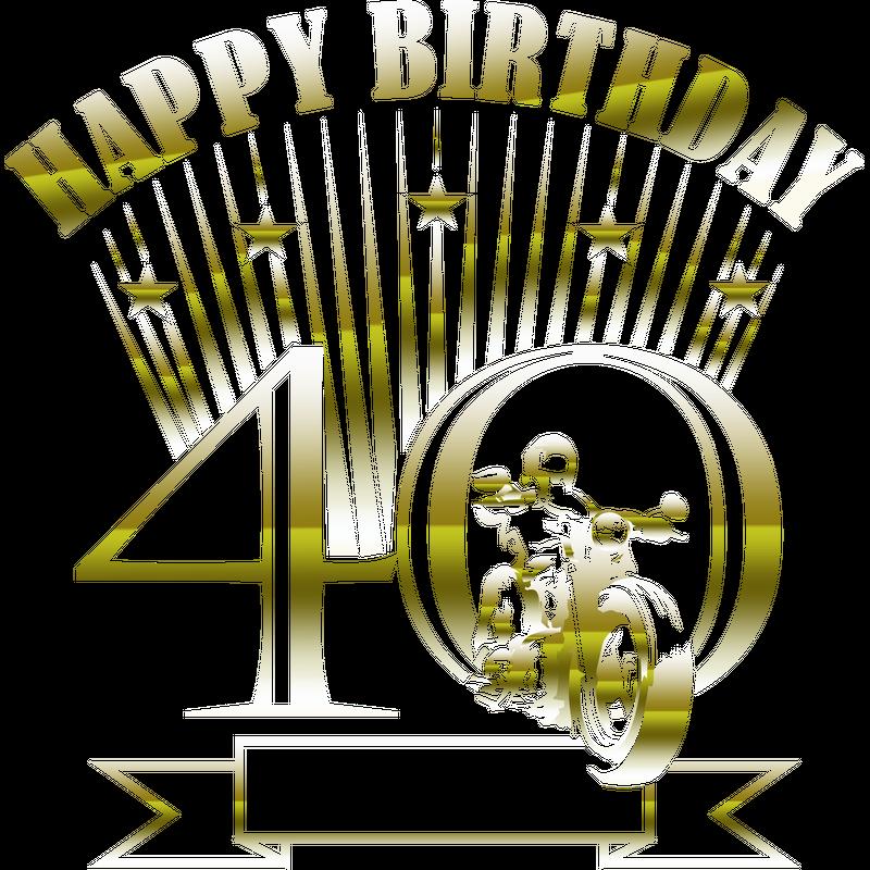 Motorradfahrer 40.Geburtstag