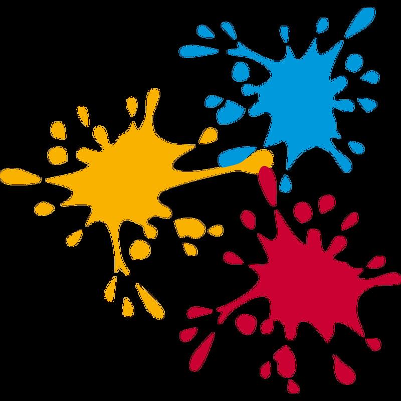 Farbkleckse Farbe