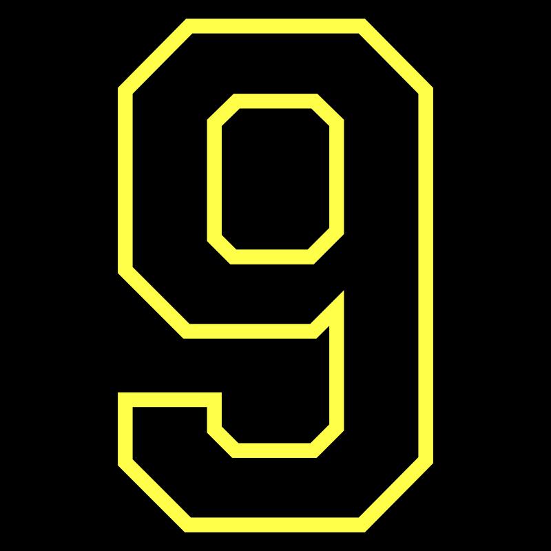 Nummer Zahl - Neun Nine Nueve