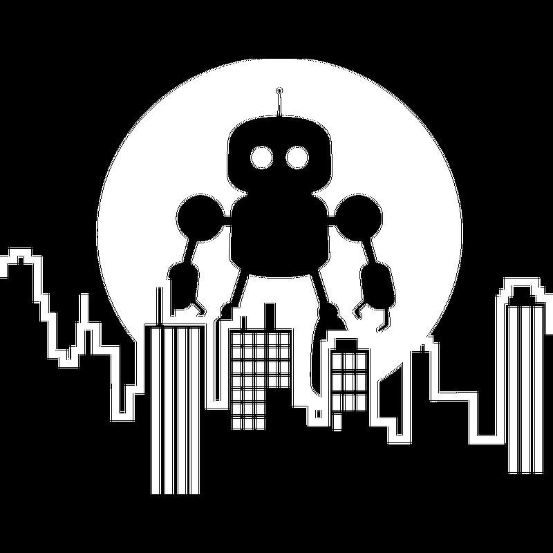 Roboter City Skyline