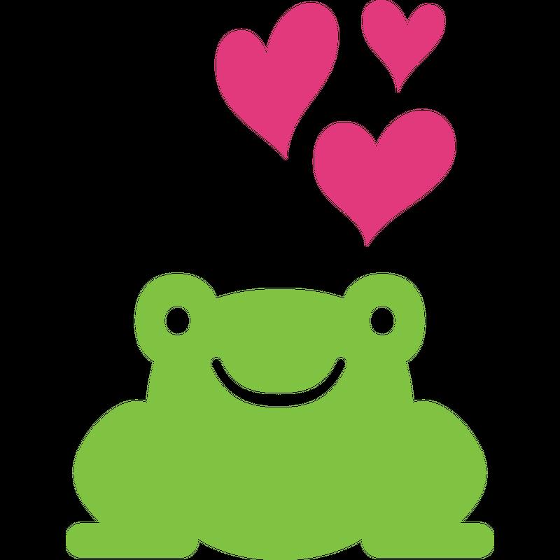 Verliebter Frosch  Herzen