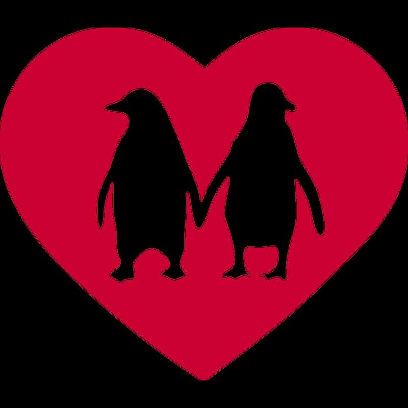 Verliebte Pinguine Herz