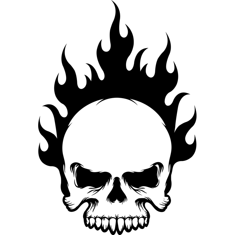 Skull Flammender Totenkopf