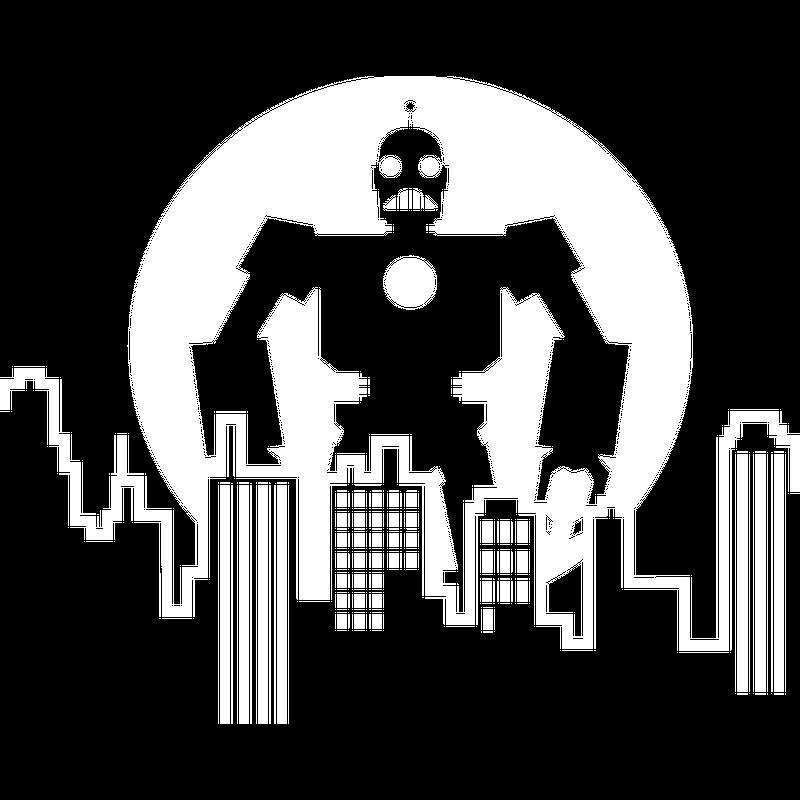 Stadt Silhouette Robot Skyline