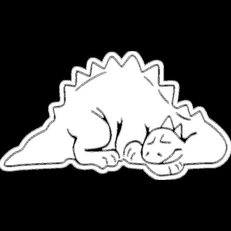 Schlafender Dino