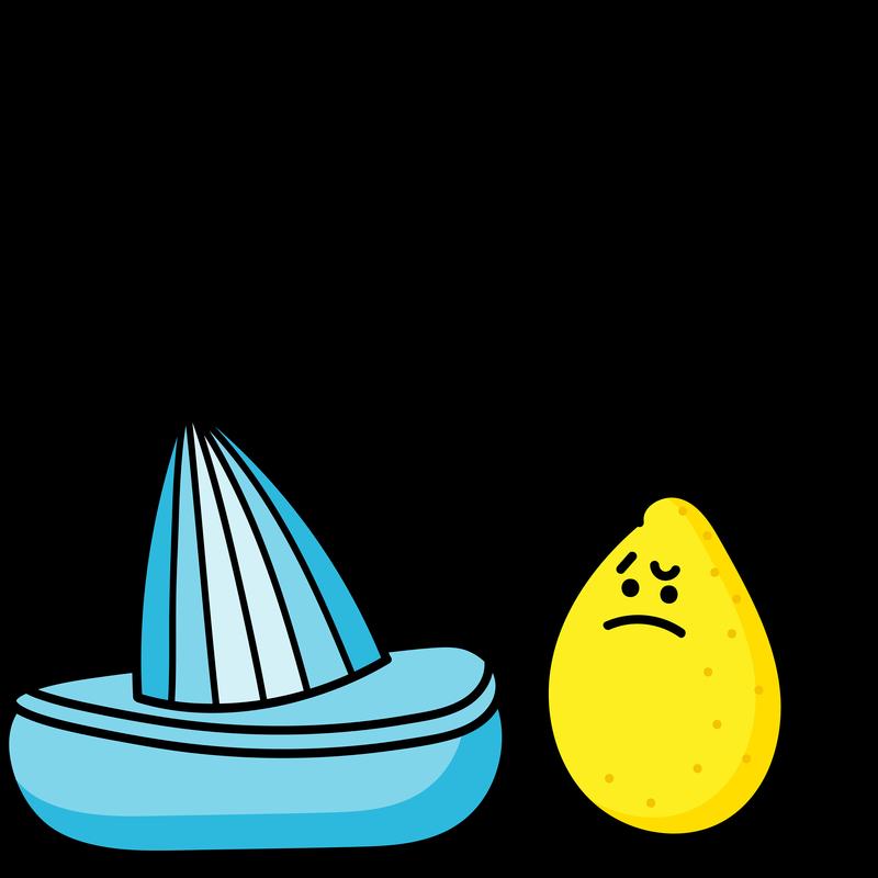 Lustige Zitrone als Rebell