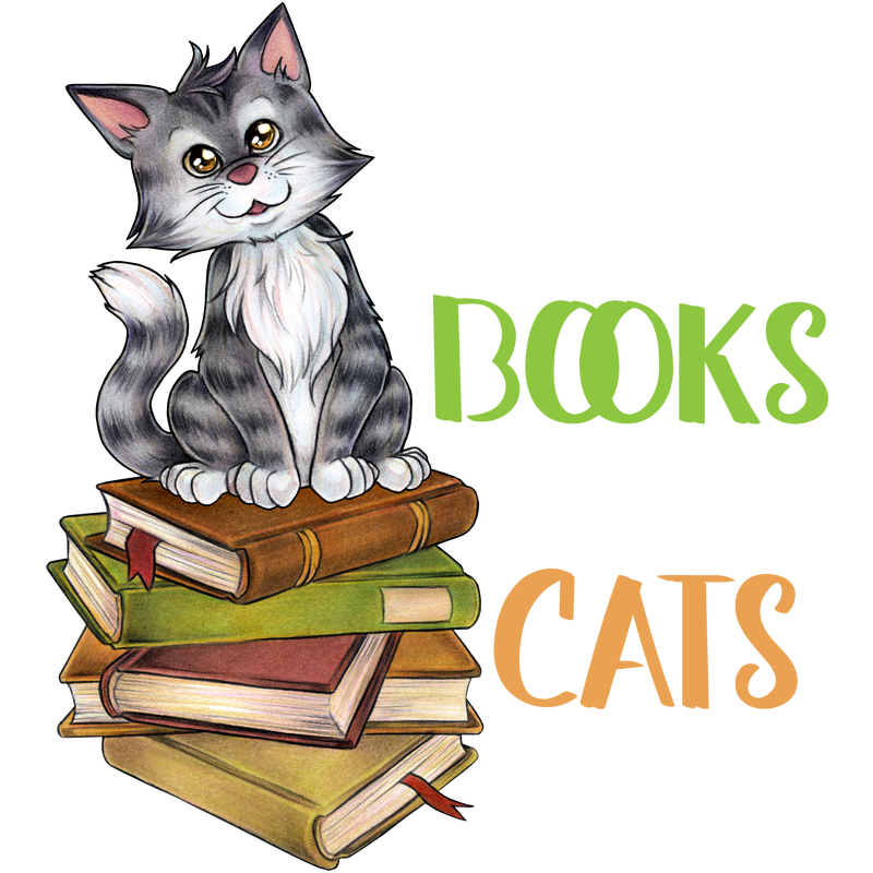All I need is Cats and books Niedliche Katze Buch