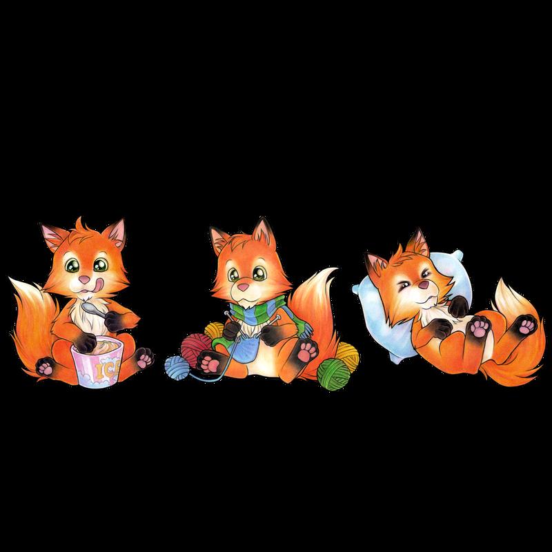 Triathlete Eating Knitting Sleeping - Cute Fox