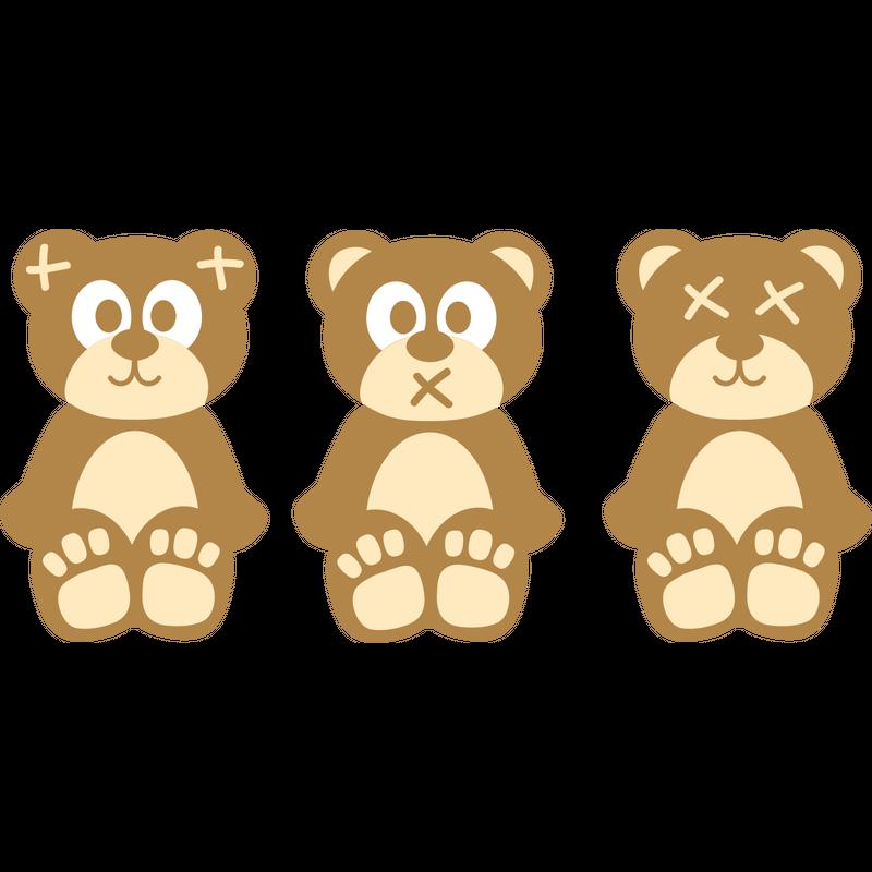 Drei Affen Teddybären