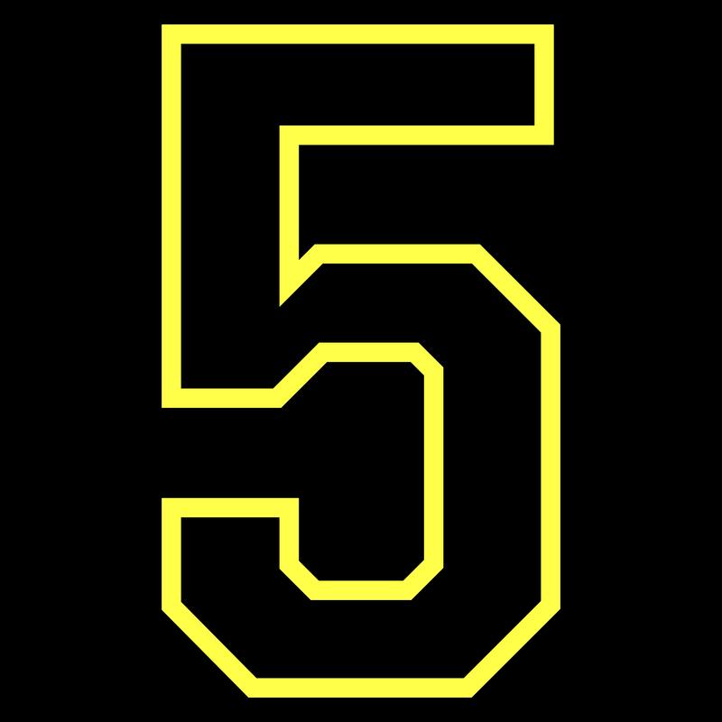 Nummer Zahl - Fünf Five Cinco