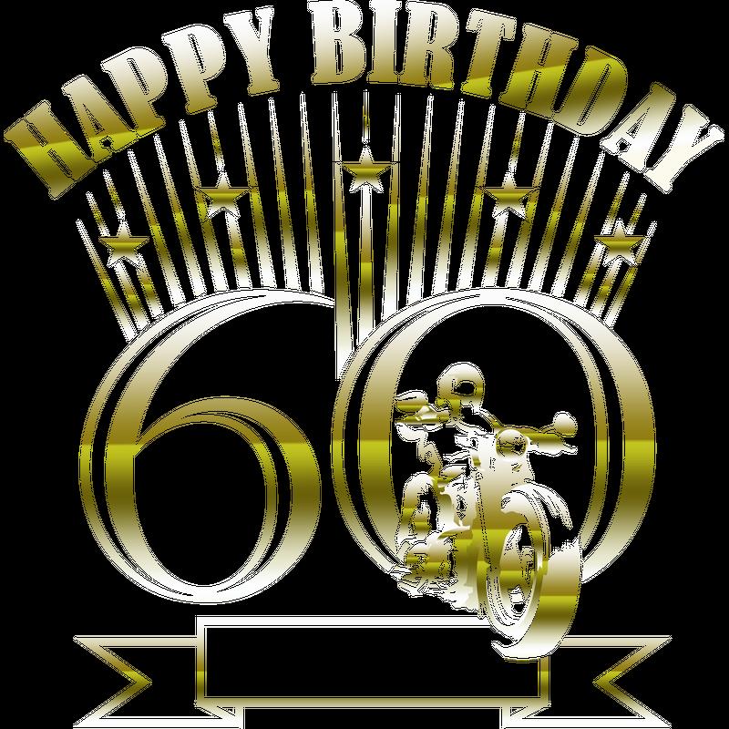 Motorradfahrer 60. Geburtstag