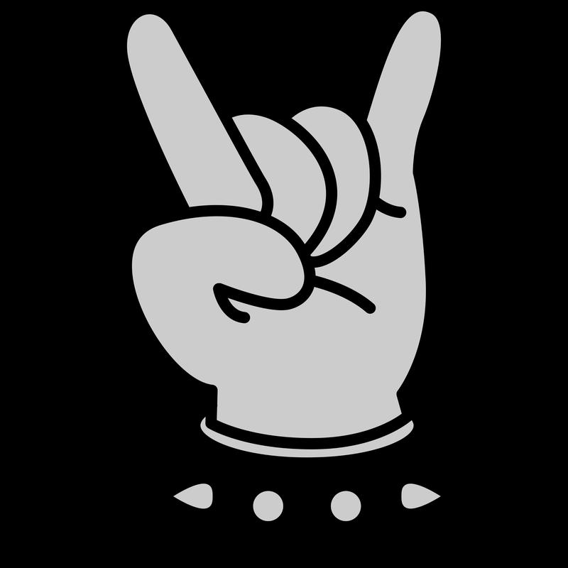 Heavy Metal Finger Hand Fork