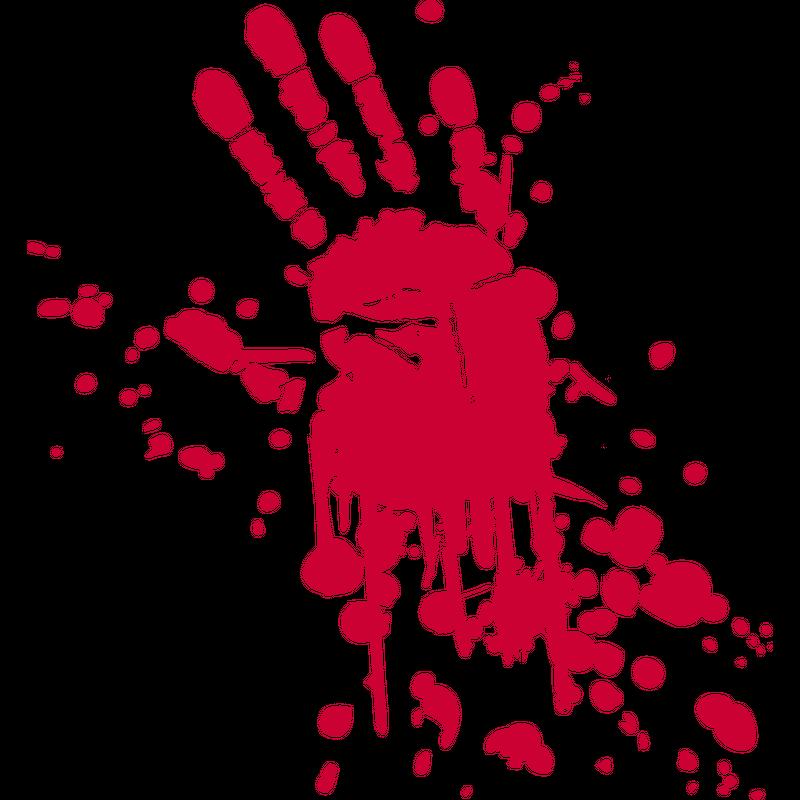 Blutige Hand Blutfleck Horror