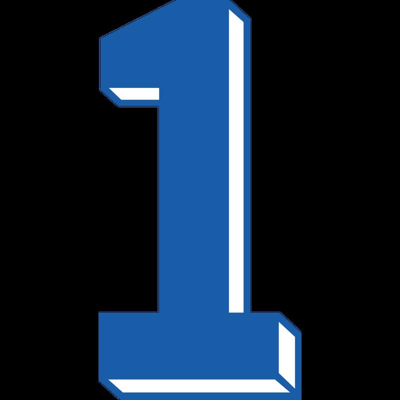 Trikot Zahl Nummer - Eins 1