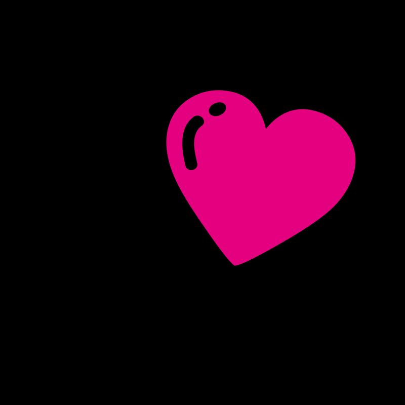 I Love Heart Bubble Ballon - Sprechblase