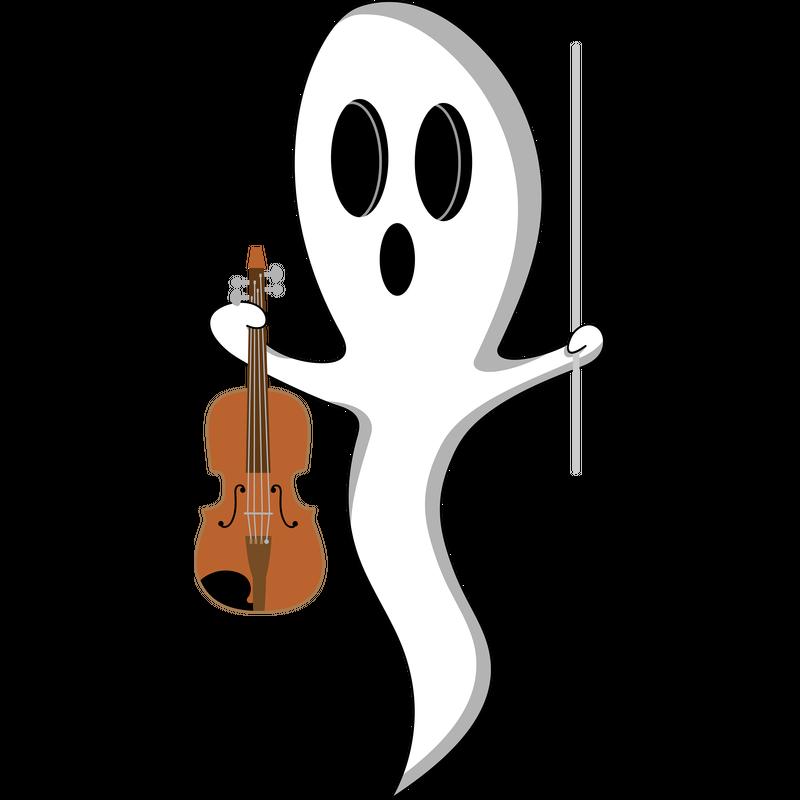 Lustiges Gespenst mit Geige