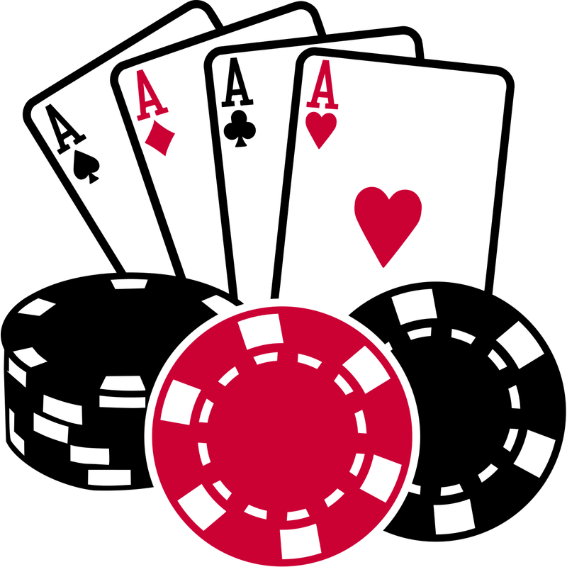 Poker All in Kartenspiel Ass Coins