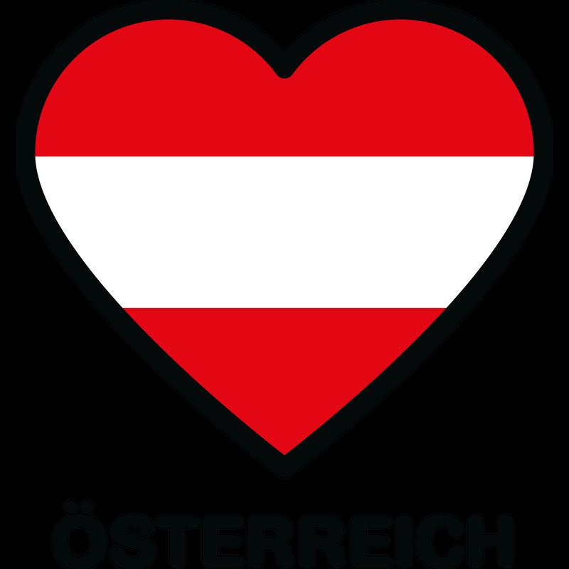 Flagge Herz Österreich