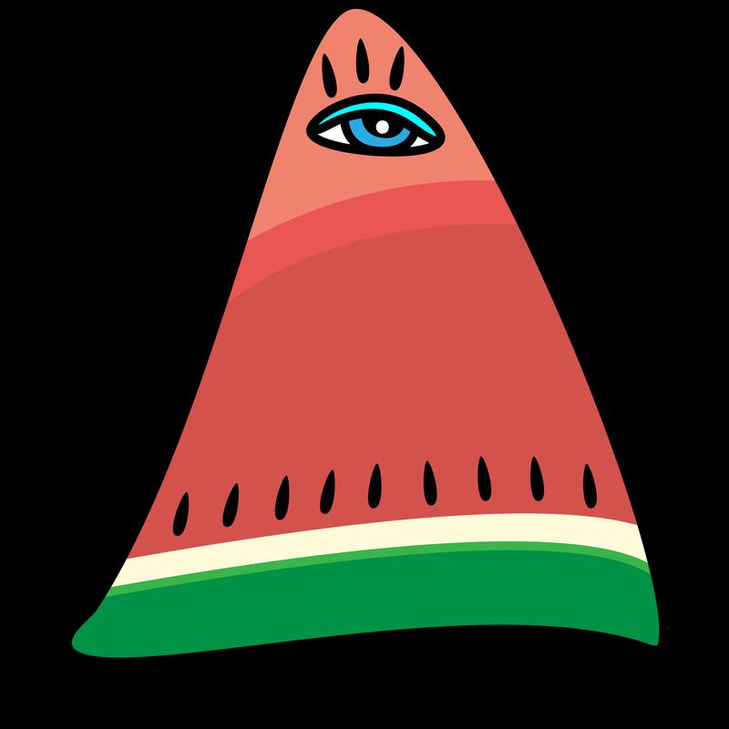 Melone mit Auge