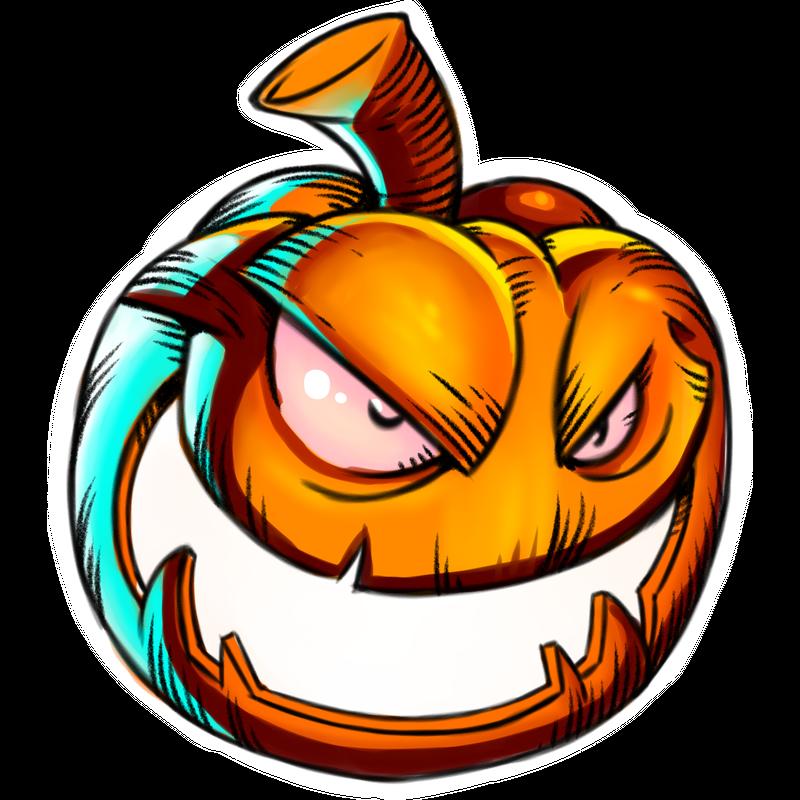 Kürbis Halloween Monster