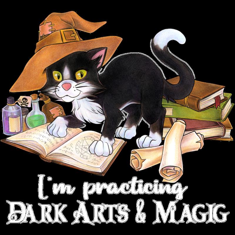 I'm practicing dark arts and magic - Hexe Katze