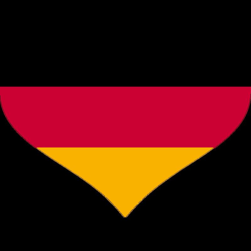 Deutschland Herz Fußball