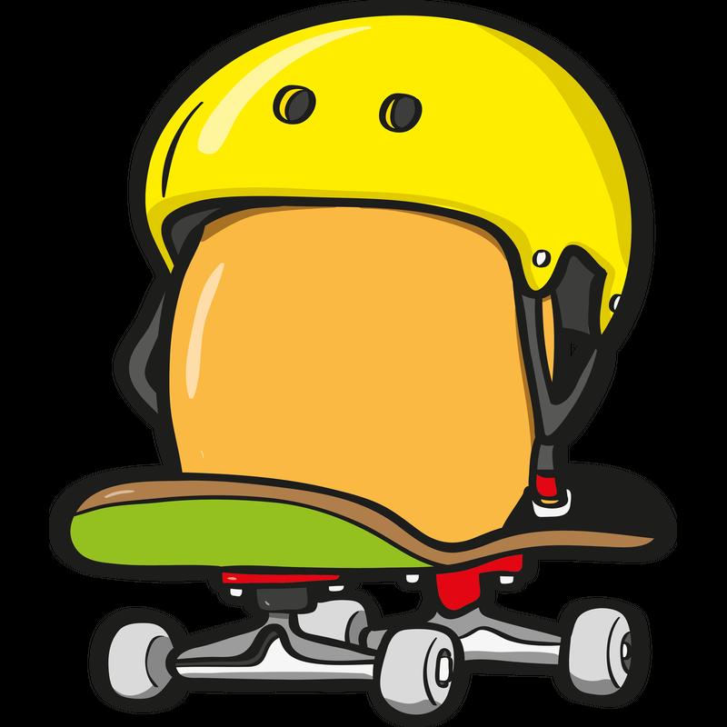 Ein Ei fährt Skateboard