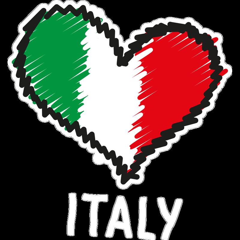 Italy Italien Herz Fahne