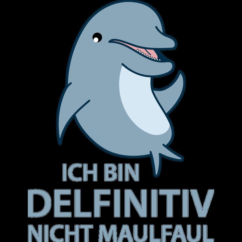 Lustiger Delfin kommuniziert