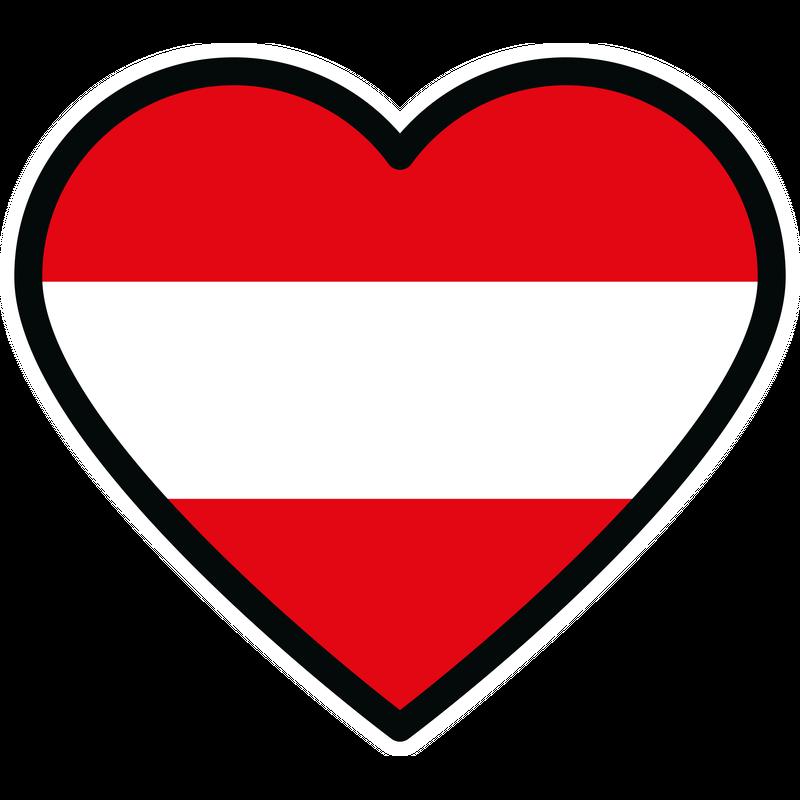 Österreich Herz Flagge