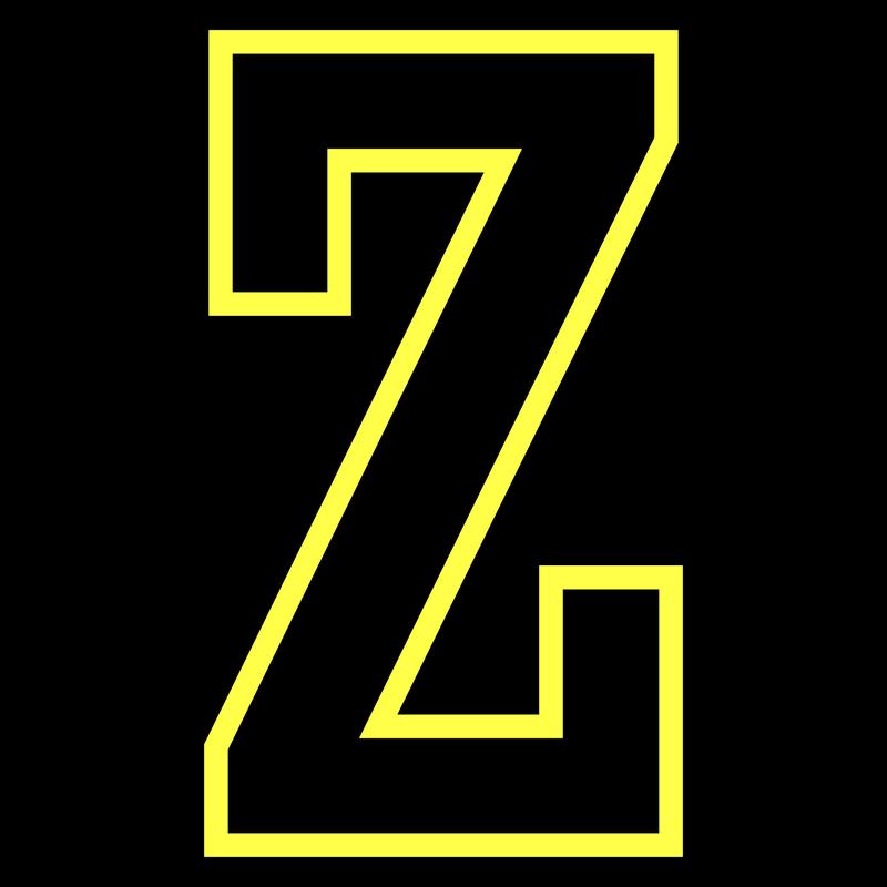 Buchstabe Z - College Style