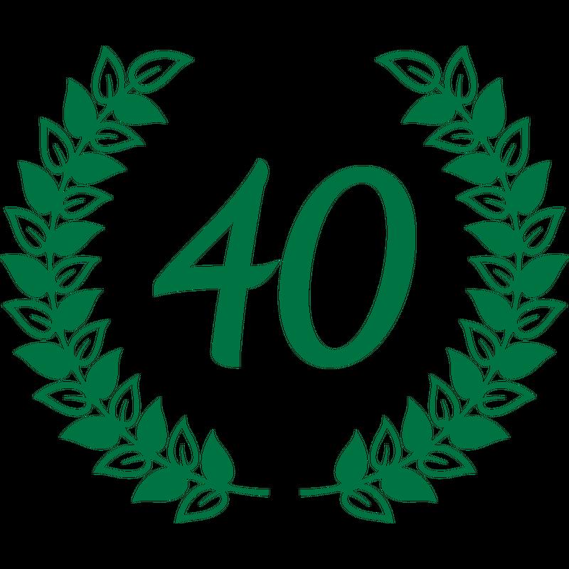 Vierzig 40 Geburtstag