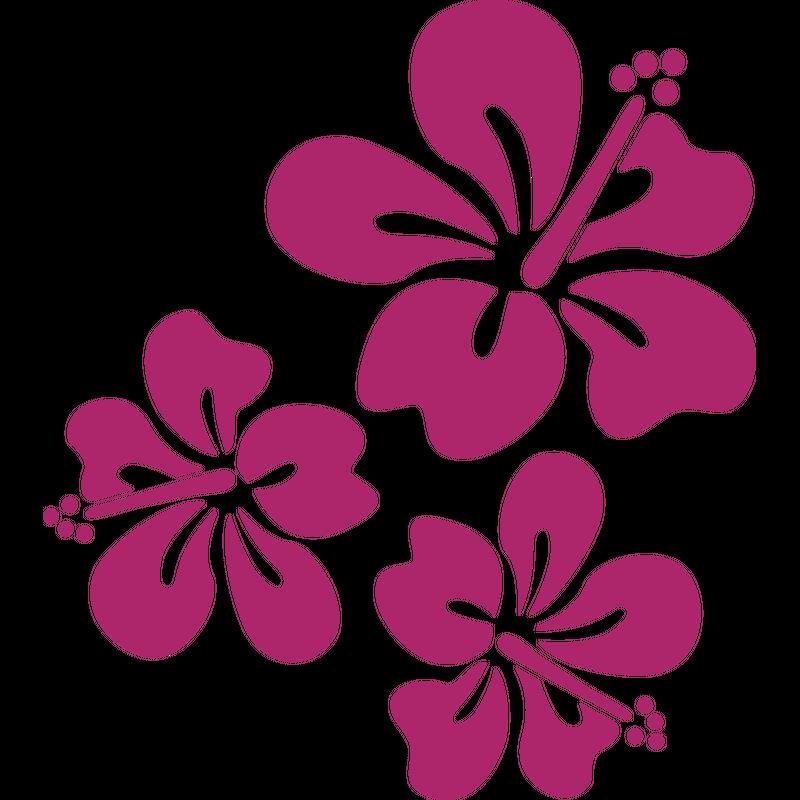 Hibiskusblüten Blumenmuster