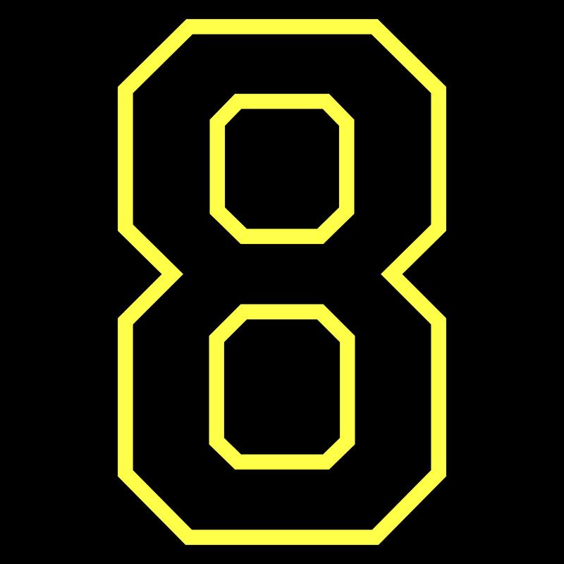 Nummer Zahl - Acht Eight Ocho