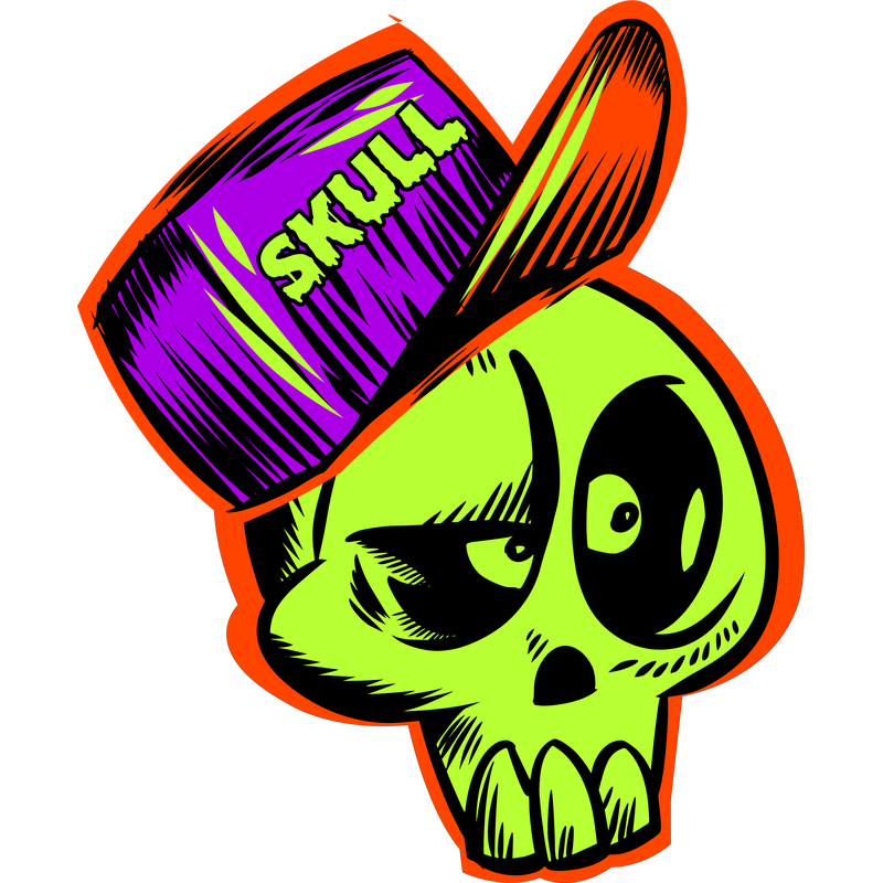 Totenkopf mit Skull Base-Cap