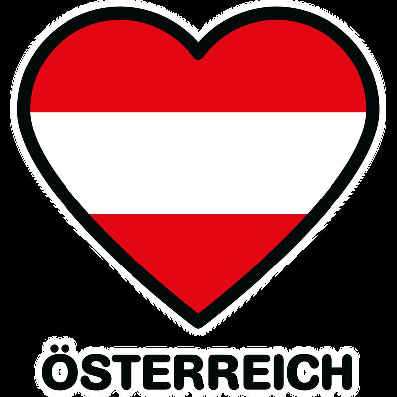 Österreich Flagge Herz