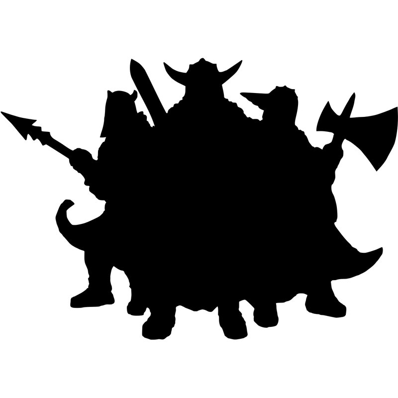 Wikinger Silhouette
