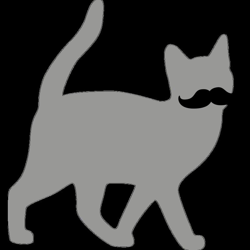 Hipster Katze Moustache