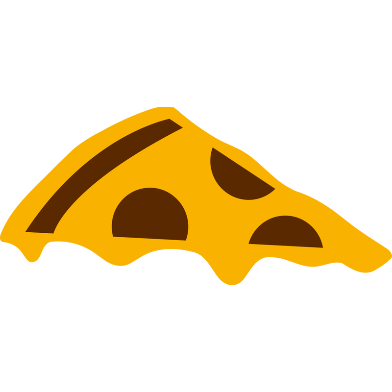 Pizzastück mit Käse