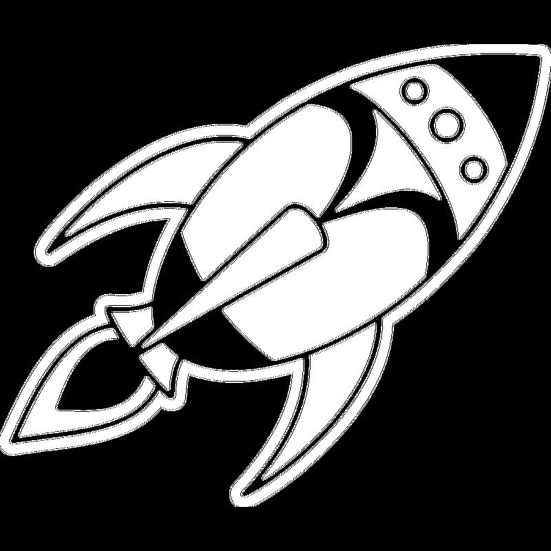 Retro Space Rocket
