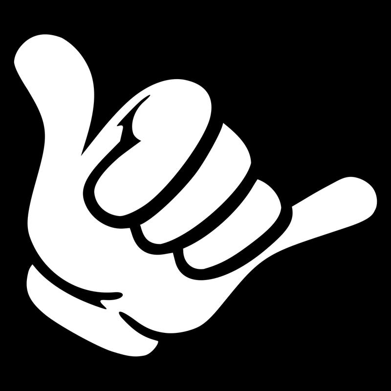 Shaka Finger Handbewegung