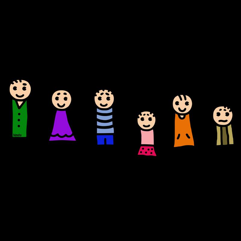 Familie mit vielen Kindern