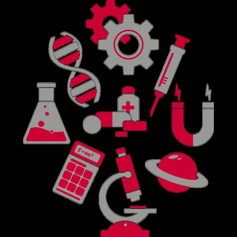 Icons Wissenschaften Science