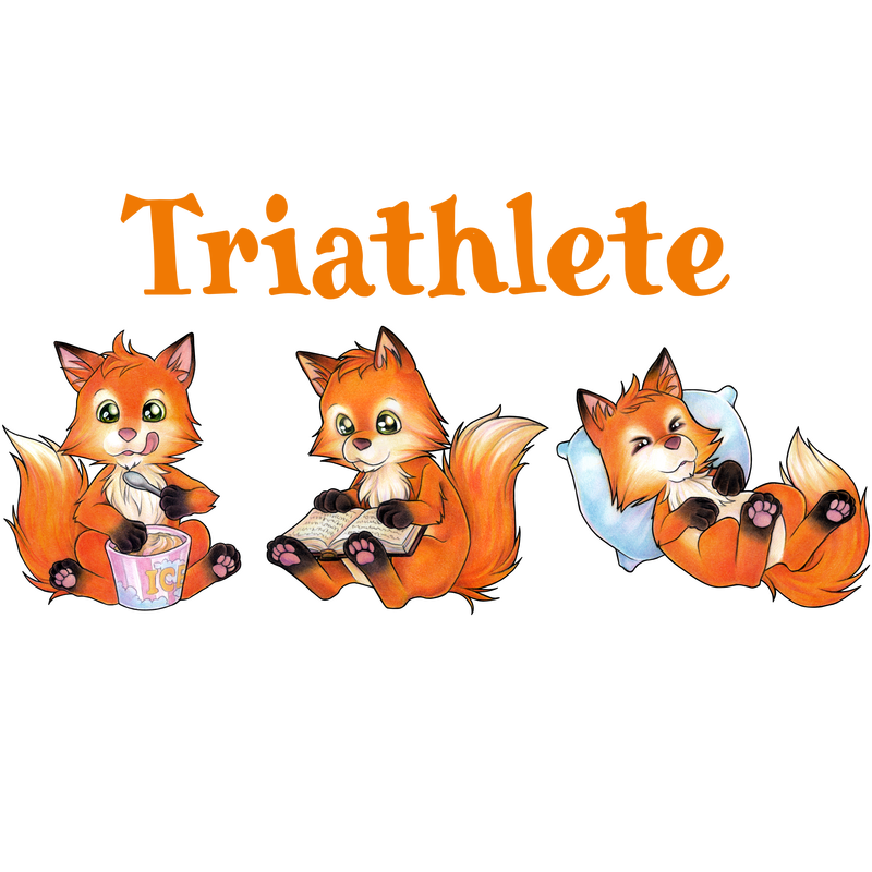 Triathlete - Eating Reading Sleeping - Cute Fox