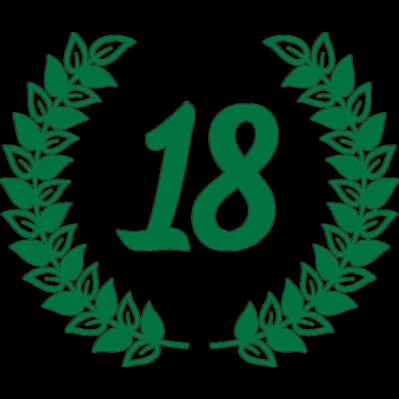 18 Achtzehn Geburtstag