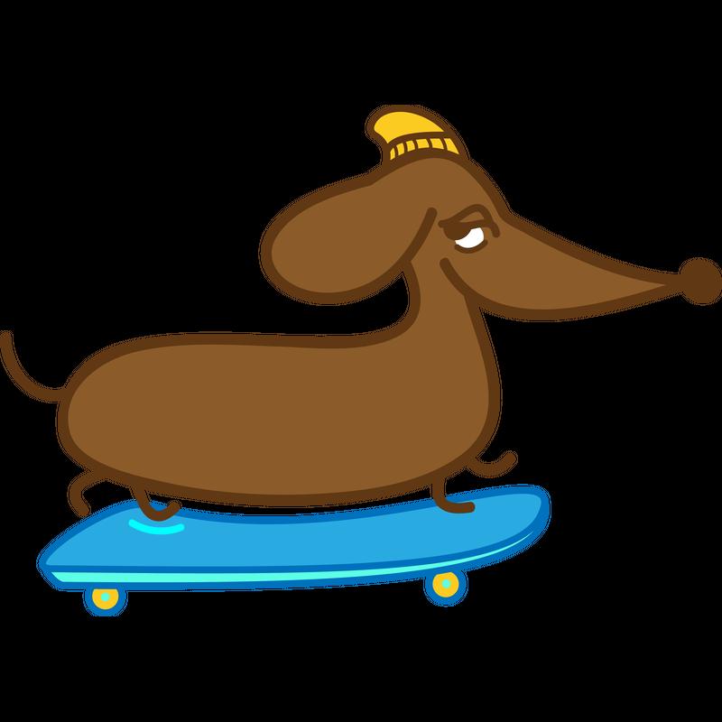 Skater Dackel - Skateboard
