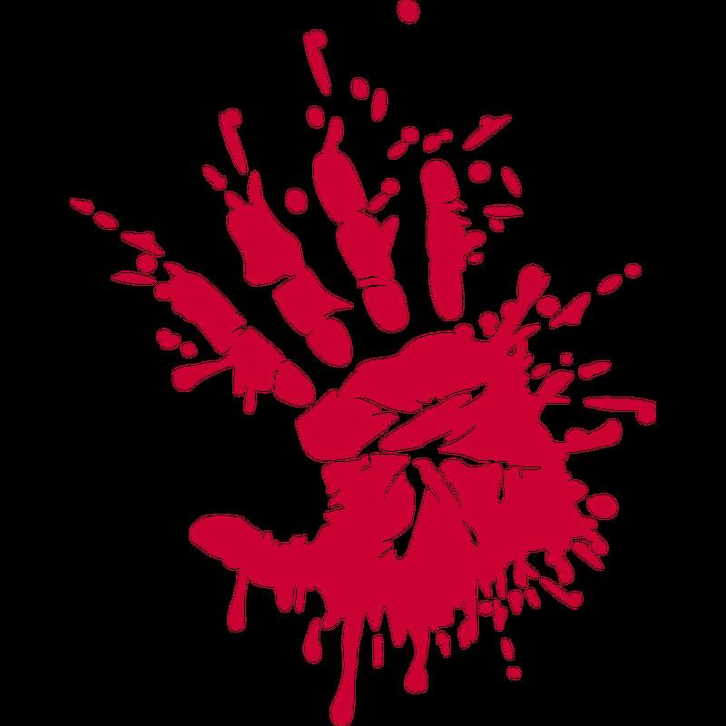 Blutige Hand Halloween