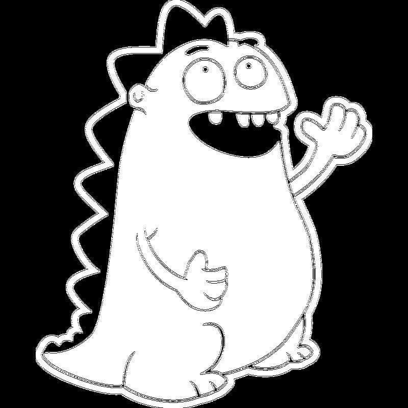 Dino winkend