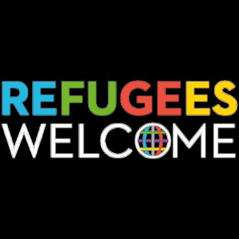 Refugees Welcome Weltkugel