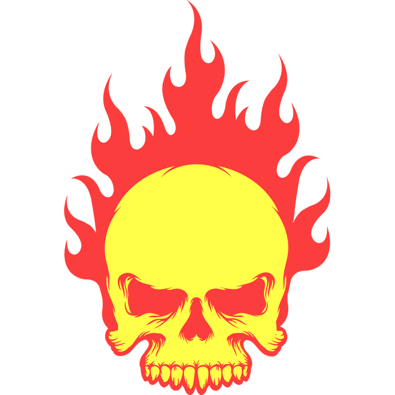 Skull Flames - Flammen
